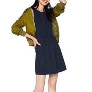 J Crew Sleeveless Knit Navy Dress Sz L NWOT